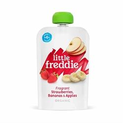 Little Freddie Organic Fragrant Strawberries, Bananas & Apples(2pc).