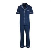 Schiesser Men Woven Pajama 35/16809H-Blue